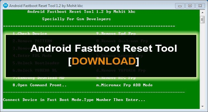 Download Android Fastboot Reset Tool For Windows